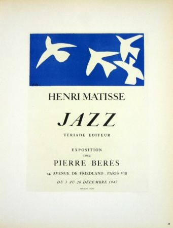 Litografia Matisse - Jazz