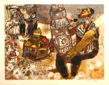 Litografia Tobiasse -  Je Ressons Jerusalem une partie de moi-meme
