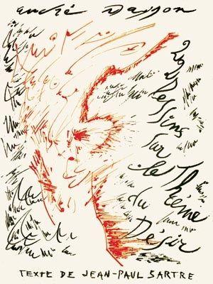 Litografia Masson - Jean-Paul Sartre : Vingt-Deux Dessins Sur Le Thème Du Désir