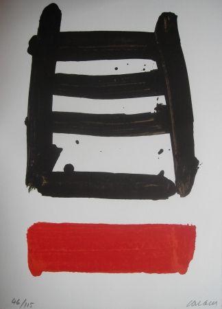 Litografia Soulages - Jean Cassou: vingt-deux poèms