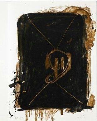Litografia Tapies - Jean Cassou: Vingt-Deux Poèms