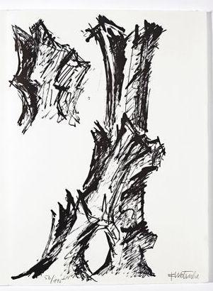 Litografia Wotruba - Jean Cassou: vingt-deux poèms