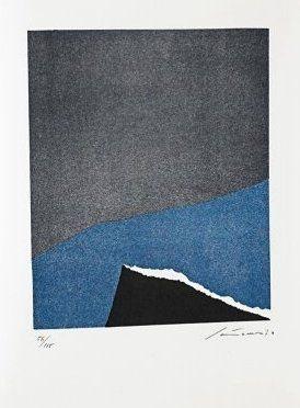 Litografia Santomaso - Jean Cassou: vingt-deux poèms