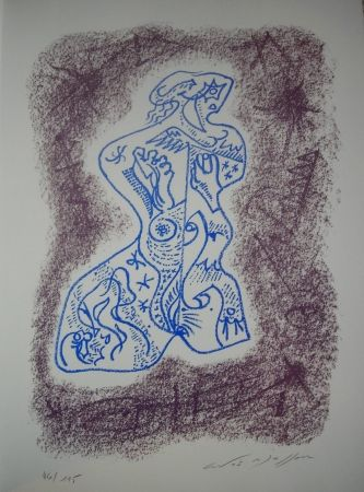 Litografia Masson - Jean Cassou: vingt-deux poèms