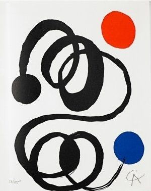 Litografia Calder - Jean Cassou: vingt-deux poèms