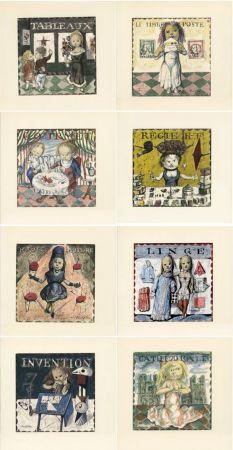 Libro Illustrato Foujita - Jean Cocteau : LA MÉSANGÈRE (1963). Ex. sur Japon nacré