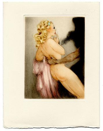 Libro Illustrato Icart - Jean de la Fontaine : LES AMOURS DE PSYCHÉ ET DE CUPIDON. Pointes sèches de Louis Icart (1949).