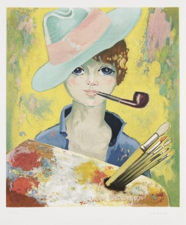 Litografia Van Dongen - Jean Marie Avec Pipe