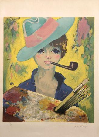 Litografia Van Dongen - Jean Marie avec un chapeau et une pipe