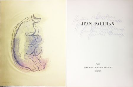 Libro Illustrato Fautrier - Jean Paulhan : FAUTRIER L'ENRAGÉ (1949)