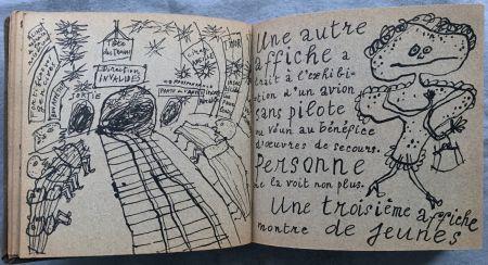 Libro Illustrato Dubuffet - Jean PAULHAN : LA MÉTROMANIE ou les dessous de la capitale. Calligraphié et orné de dessins par son ami Jean Dubuffet.