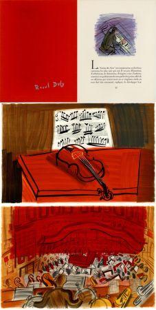 Libro Illustrato Dufy - Jean Witold : CONCERT DES ANGES - 9 lithographies en couleurs (1963).