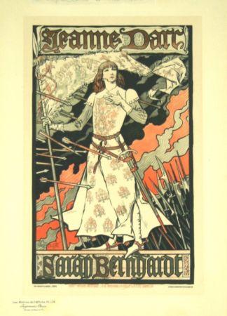 Litografia Grasset - Jeanne D'arc  Les Maitre de L'affiche Planche 174