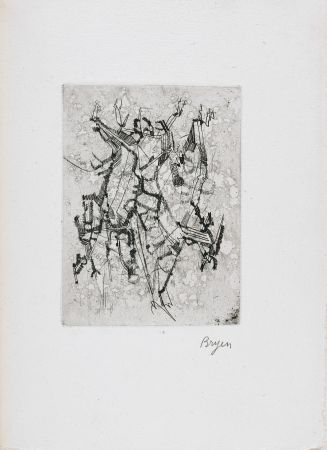 Libro Illustrato Bryen - Jepeinsje. Poème et eau-forte de Camille Bryen (1955)