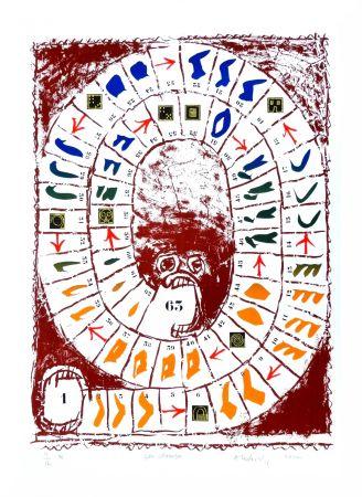 Litografia Alechinsky - Jeu classique