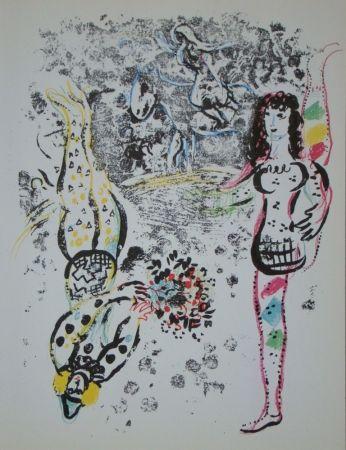 Litografia Chagall - Jeu des acrobates