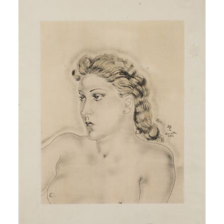 Multiplo Foujita - Jeune Femme Blonde ,1931
