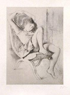 Litografia Balthus - JEUNE FILLE
