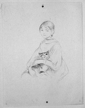 Punta Secca Morisot - Jeune fille au chat