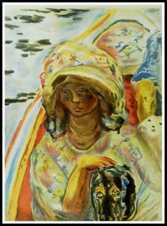 Litografia Bonnard - JEUNE FILLE DANS UNE BARQUE