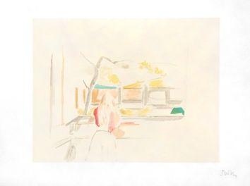Litografia Balthus - JEUNE FILLE DE DOS