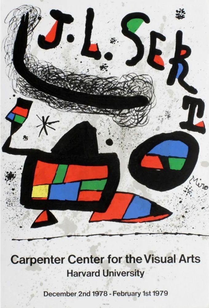 Manifesti Miró - J.L. SERT. Carpenter Center for the Visual Arts. Harvard University 1978-1979.