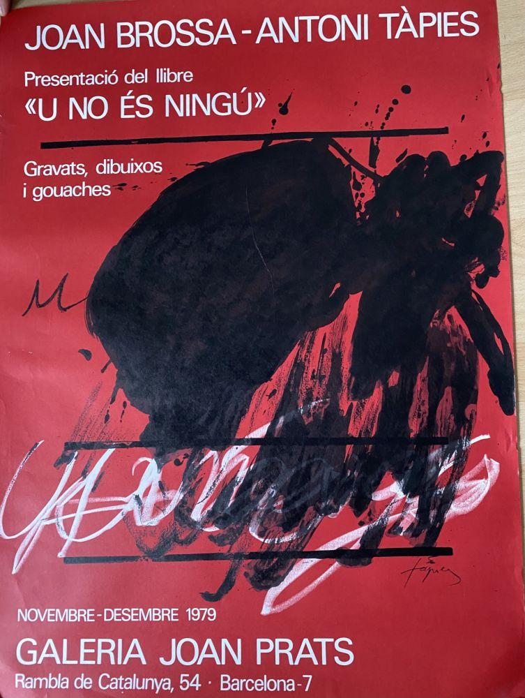 Manifesti Tàpies - Joan Brossa- Antoni Tàpies Poster