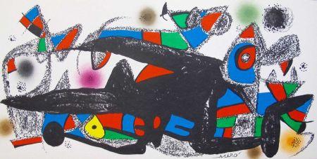 Litografia Miró - Joan Miro - Miró Escultor . Dinamarca 40 X 20 Cm.firmada En Plancha
