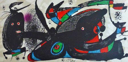 Litografia Miró - Joan Miro - Miró Escultor . Gran Bretaña 40 X 20 Cm.firmada En Plancha