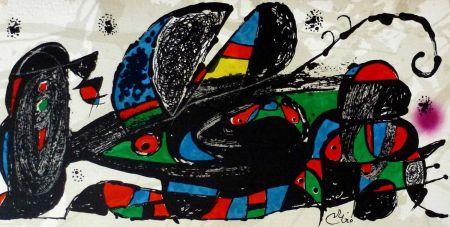 Litografia Miró - Joan Miro - Miró Escultor . Irán 40 X 20 Cm.firmada En Plancha
