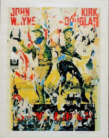 Serigrafia Rotella - John Wayne - Kirk Douglas