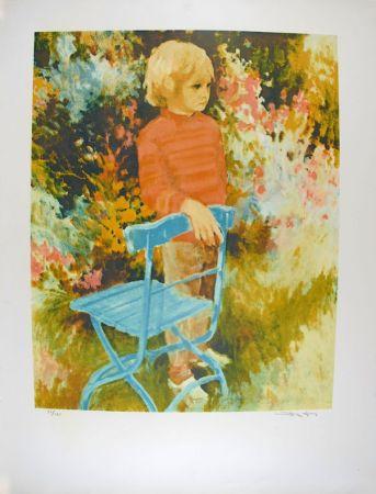 Litografia Kitslaar - Jongetje bij stoel