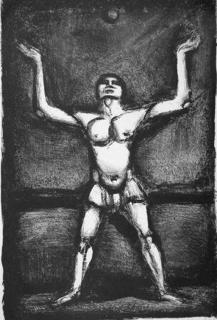 Litografia Rouault - Jongleur