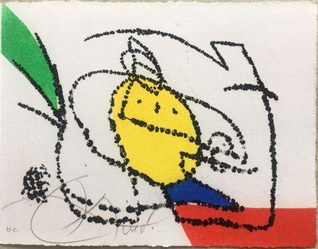 Libro Illustrato Miró - Jordi de Sant Jordi : CHANSON DES CONTRAIRES. Une gravure signée de Joan Miró (1976).