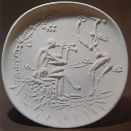 Ceramica Picasso - Joueur de diaule et faune