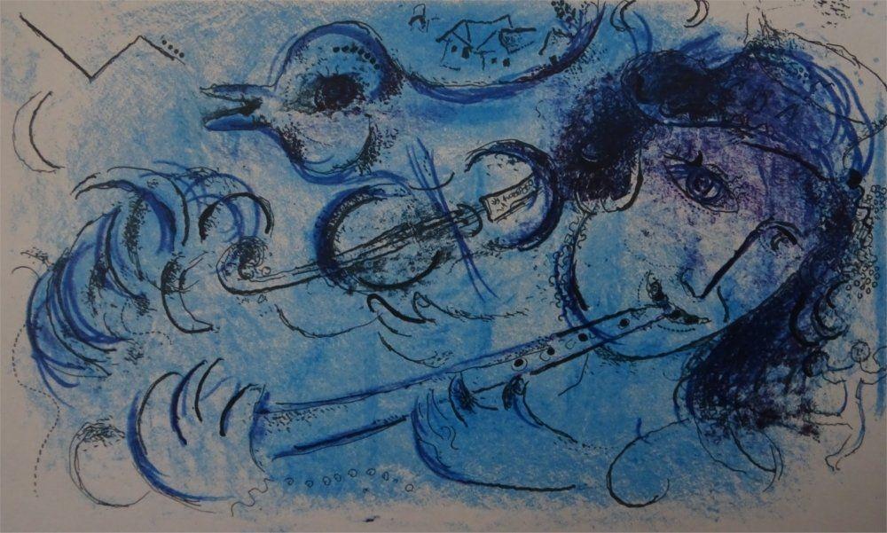 Litografia Chagall - Joueur de Flute