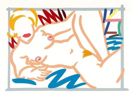 Serigrafia Wesselmann - Judy on a Blue Blanket