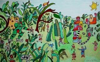 Litografia De Saint Phalle - Jungle