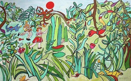 Litografia De Saint Phalle - Jungle 2