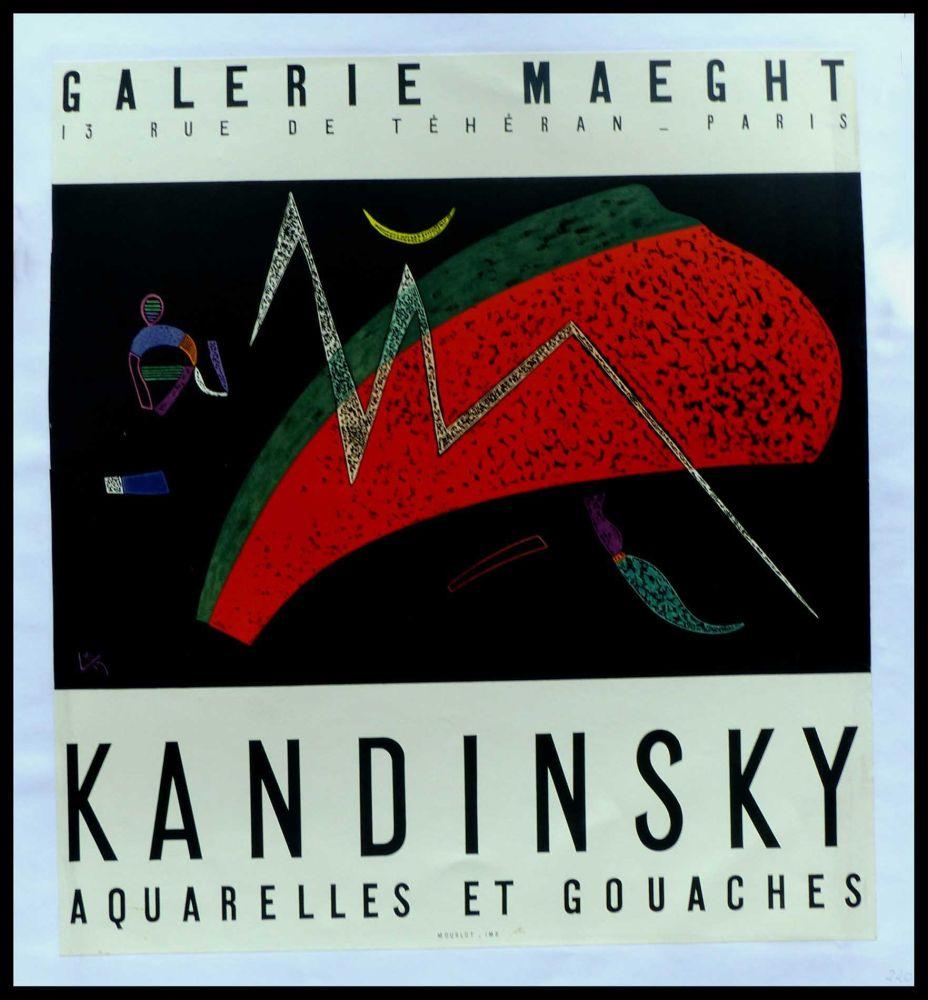 Manifesti Kandinsky - KANDINSKY GALERIE MAEGHT AQUARELLES ET GOUACHES