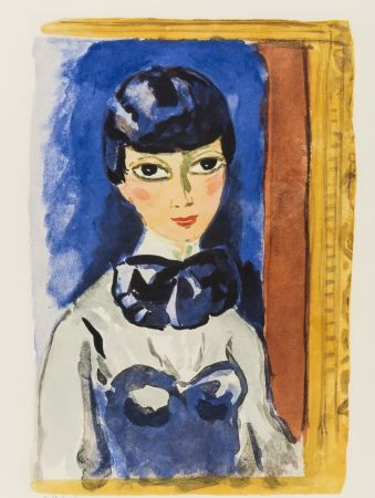 Litografia Van Dongen - Kees Van DONGEN (1877-1968). Claudine, circa 1950. Lithographie signée.