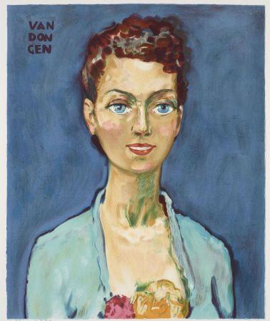 Litografia Van Dongen - Kees van Dongen (1877-1968). Hommage à Marie-Claire. Lithographie signée.