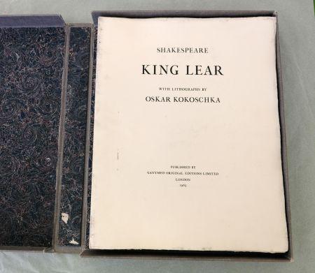 Litografia Kokoschka - King Lear
