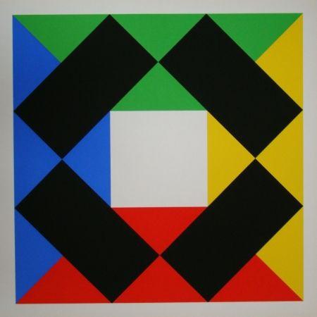 Serigrafia Bill - Komposition mit weissem Zentrum
