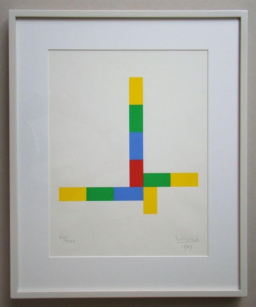 Serigrafia Bill - Konkrete Komposition - 1969