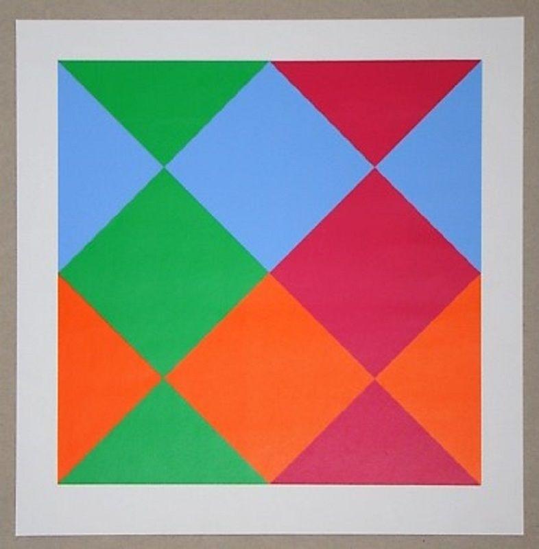 Serigrafia Bill - Konkrete Komposition, 1966