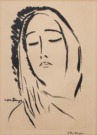 Litografia Van Dongen - L'écharpe. 1925.