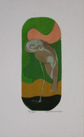 Litografia Minaux - L'échassier / Wading Bird