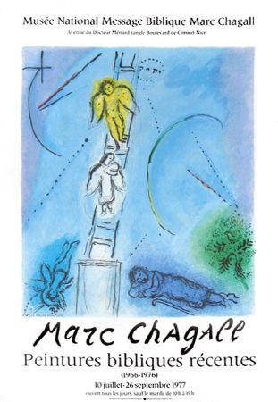 Litografia Chagall - '' Léchelle de Jacob ''