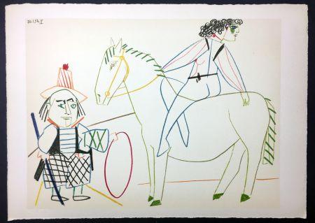 Non Tecnico Picasso - L'écuyère Et L'homme Au Cerceau (De La Comédie Humaine - Verve 29-30. 1954)